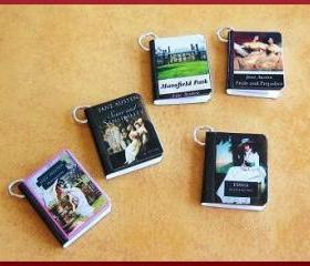 Miniature Book Charms Classics Theme Set of all 5